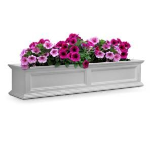 Mayne Self Watering Yorkshire 12 In X 72 In Vinyl Window Box 4826w Window Box Window Planter Boxes Planter Boxes