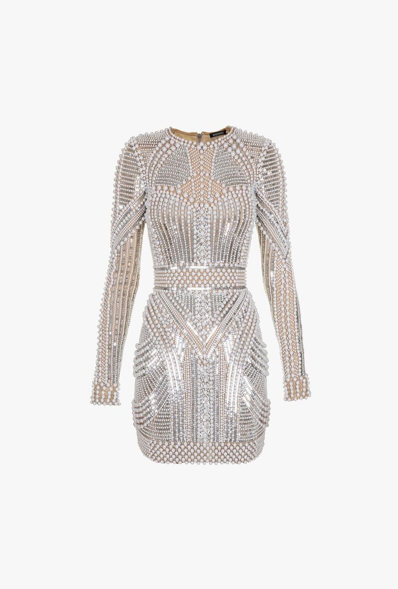 e88036ec1a37  Bead And Sequin Mini Dress for Women - Balmain. Visit. February 2019