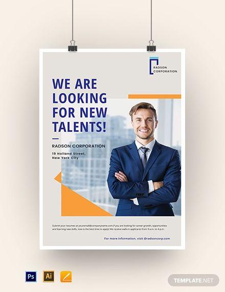 Job Advertisement Poster Template   Job poster, Job ...