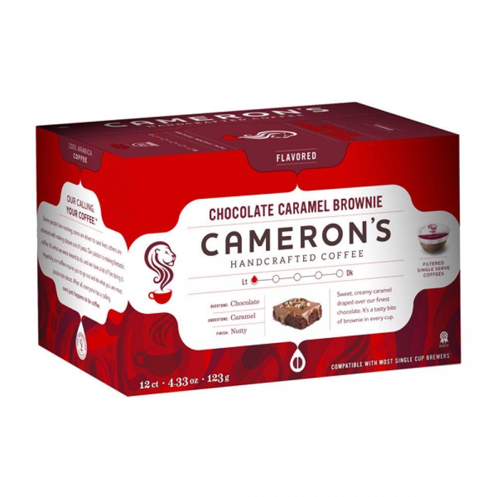 Cameron's Chocolate Caramel Brownie Single Serve Coffee 12