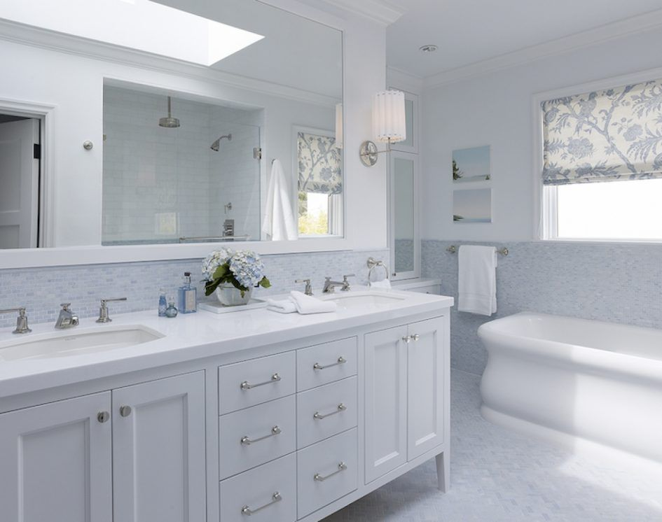 Bathroom Double Bathroom Vanities With Decorative Lamp And White