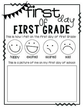 The Kissing Hand activities: FREE First Day of School Feelings