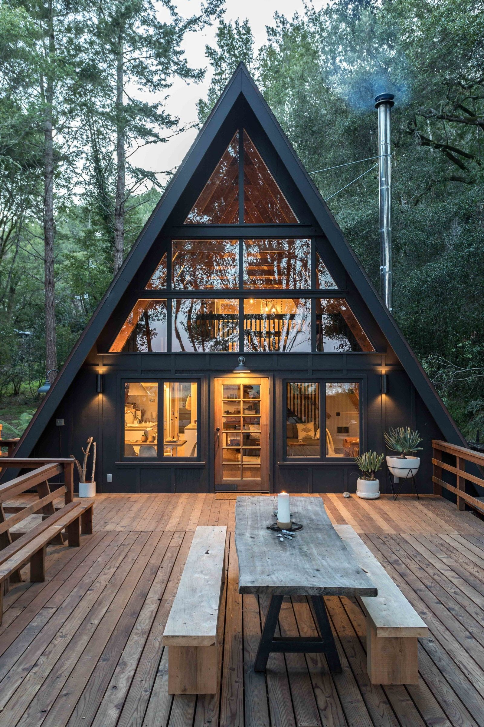 Inverness A-Frame Cabin by Blythe Design Co | A frame house, House in the  woods, House