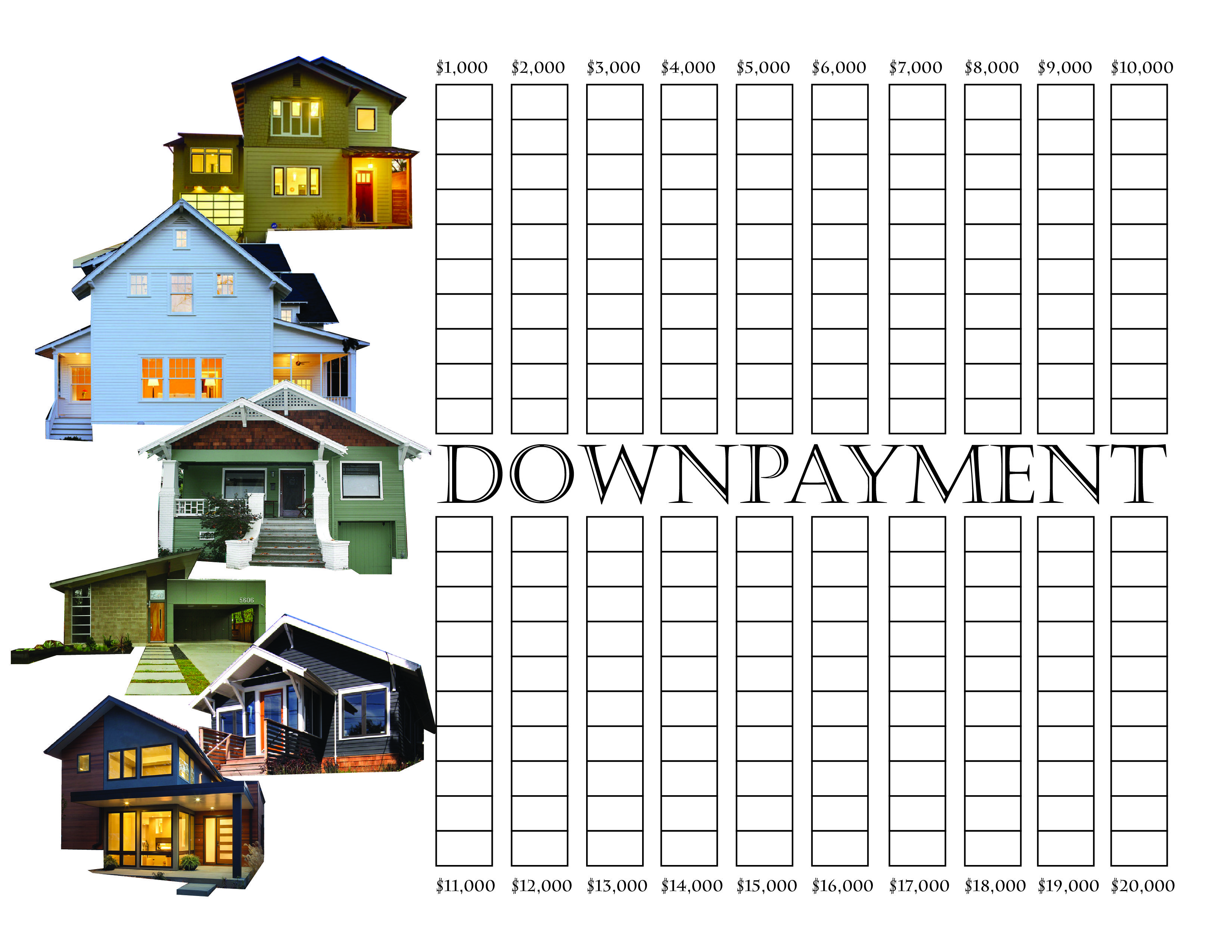 Downpayment Saving Chart 20k