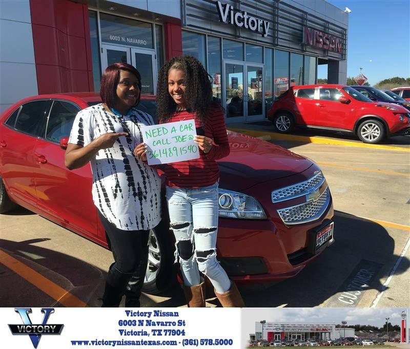 Congratulations Elise On Your Chevrolet Malibu From Joseph Garrett At Victory Nissan Joseph Garrett Victorious Nissan