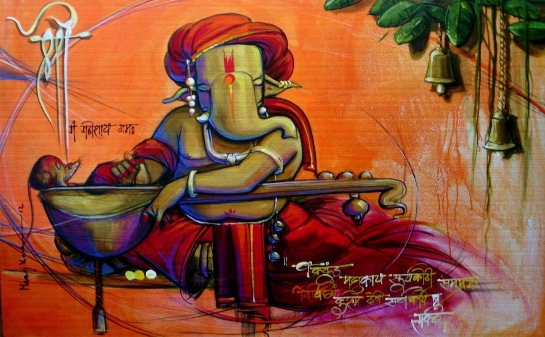 Ganesha Painting On Canvas Ganesha Wall Art Ganesha Modern Art Ganesha Painting Lord Ganesha Paintings Modern Art Paintings