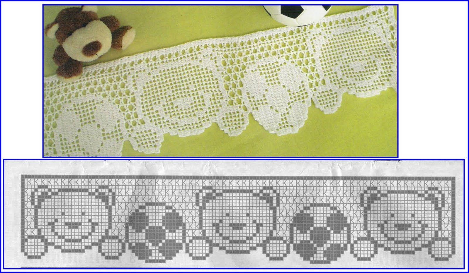 Barrados De Croche Com Ursinhos Barrados De Croche Varanda De