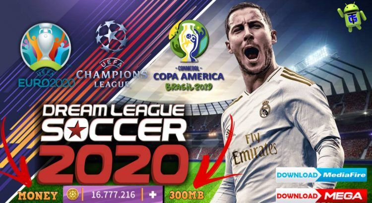 Dream League Soccer 2020 Mod Apk Obb Data Money Update Download Apk Games Club Real Madrid Team League Soccer