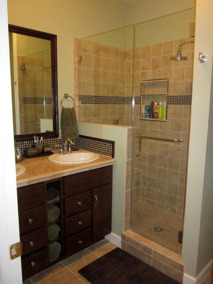 Small bathroom remodel diy bathrooms pinterest small for Small bathroom redesign