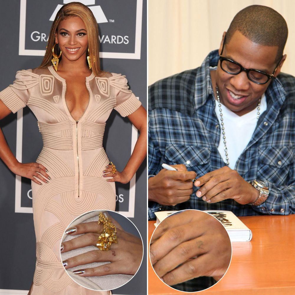 Beau Did Beyoncé Remove Her Jay Z Wedding Ring Tattoo? 9   Life U0026 Style