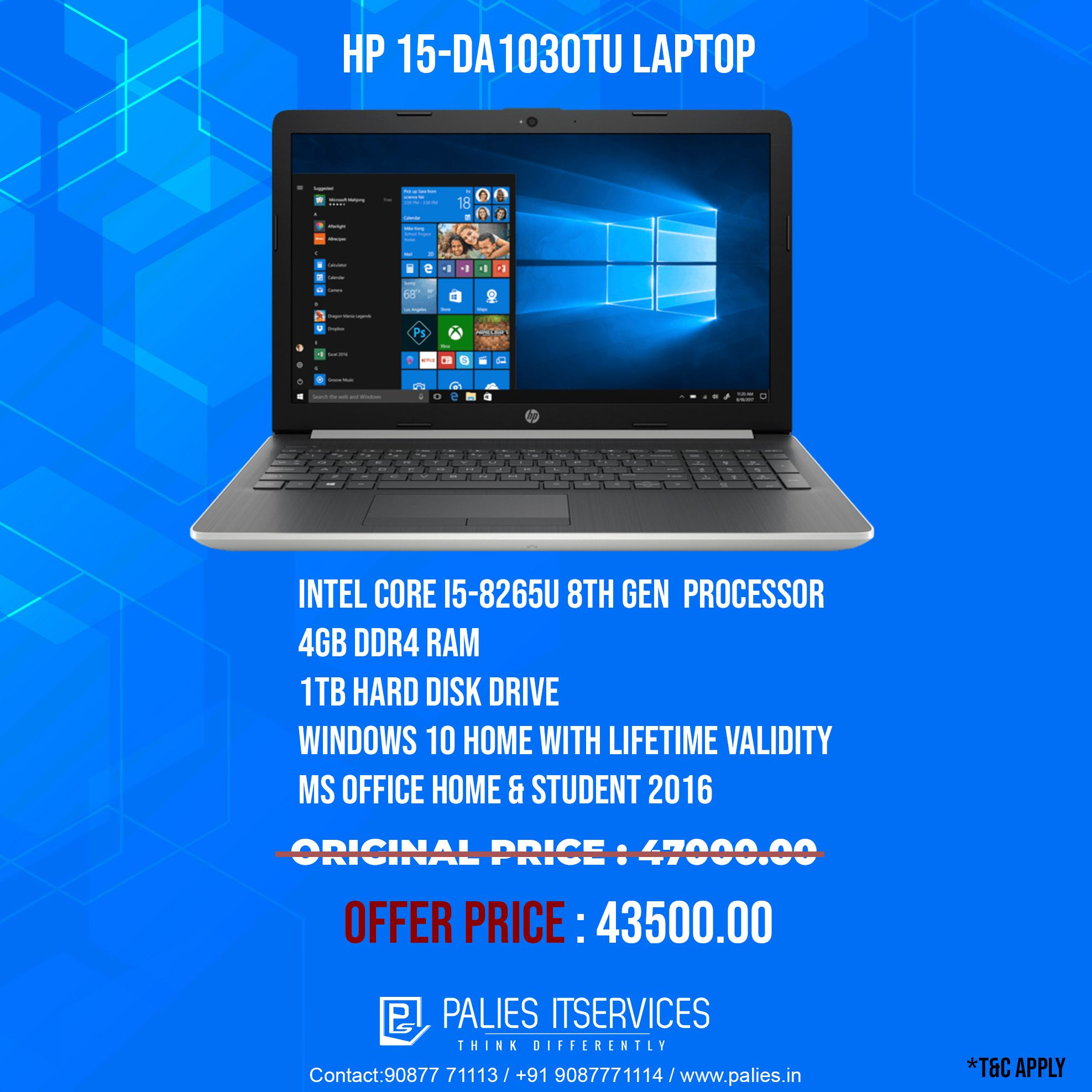 ddr3 sur carte mere ddr4 Intel Core i58265u 8th Gen #Processor 4GB DDR3 #RAM 1TB #HardDrive