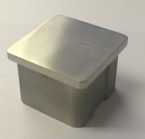 40 X 40mm Square Stainless Steel End Cap To Finish Off Handrail And Balustrade Posts Handrail Fittings Stainless Steel Balustrade Handrail
