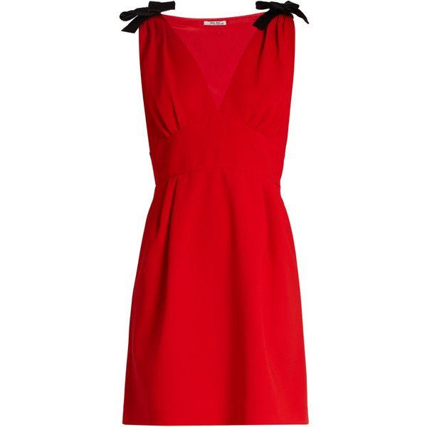 scalloped edge dress - Red Miu Miu cmqNR