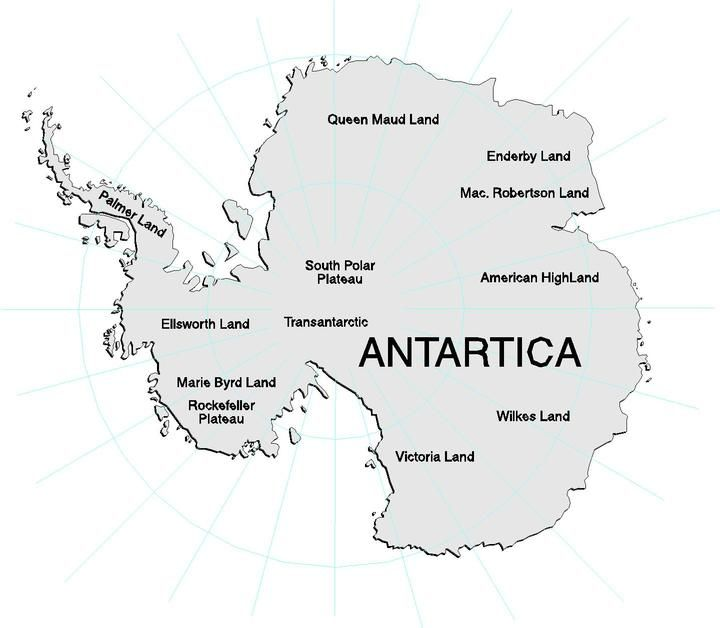 antartica map continent | SpringBoard Magazine Fun facts about ...