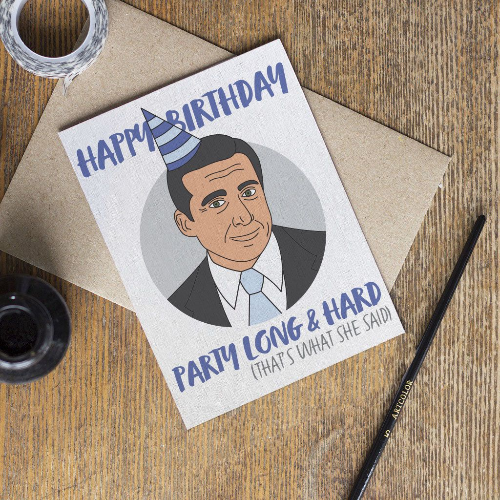 The Office Michael Scott Birthday Card Tv Show That S What She