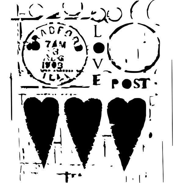 The Crafter's Workshop Love Post Stencil - 6 x 6