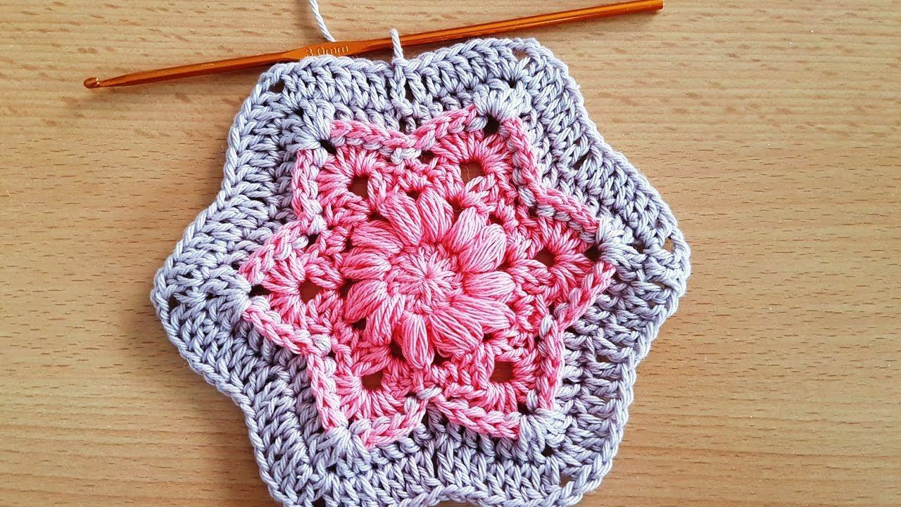 Crocheted flower 54