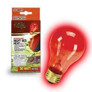 Zilla Night Red Heat Bulb Boxed 50 Watts Incandescent Bulbs Reptile Heat Lamp Bulb