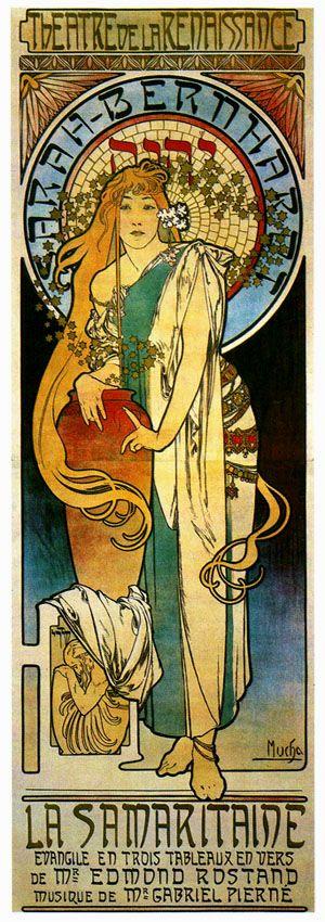 ALPHONSE MUCHA La Samaritaine with Sarah Bernhardt 1897 A3 Art Nouveau Poster