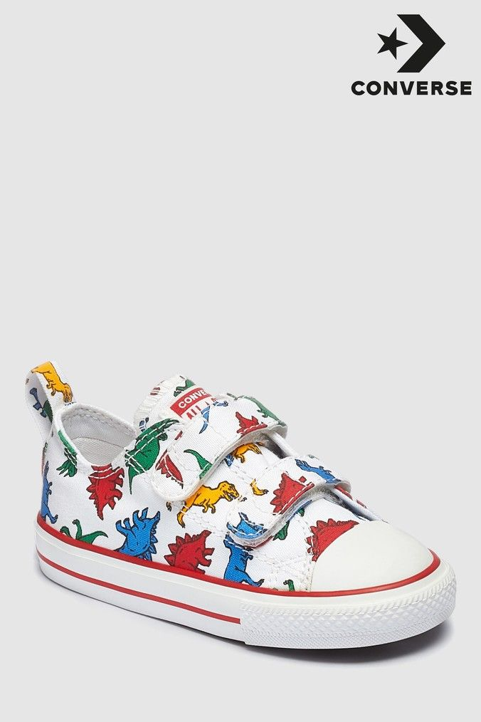 buy cheap sneakers new images of Boys Converse Infant White Dino Chuck Ox Trainer - White ...