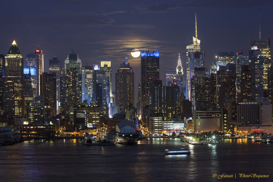 Midtown Backlit with moon light by Photosequence  on 500px