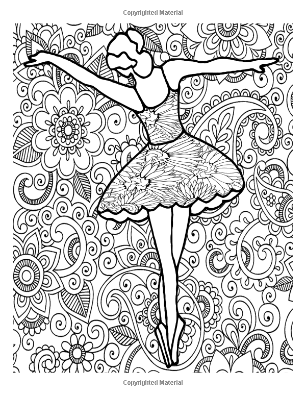 Amazon.com: Adult Coloring Book Lovely Ballerina Mandala ...