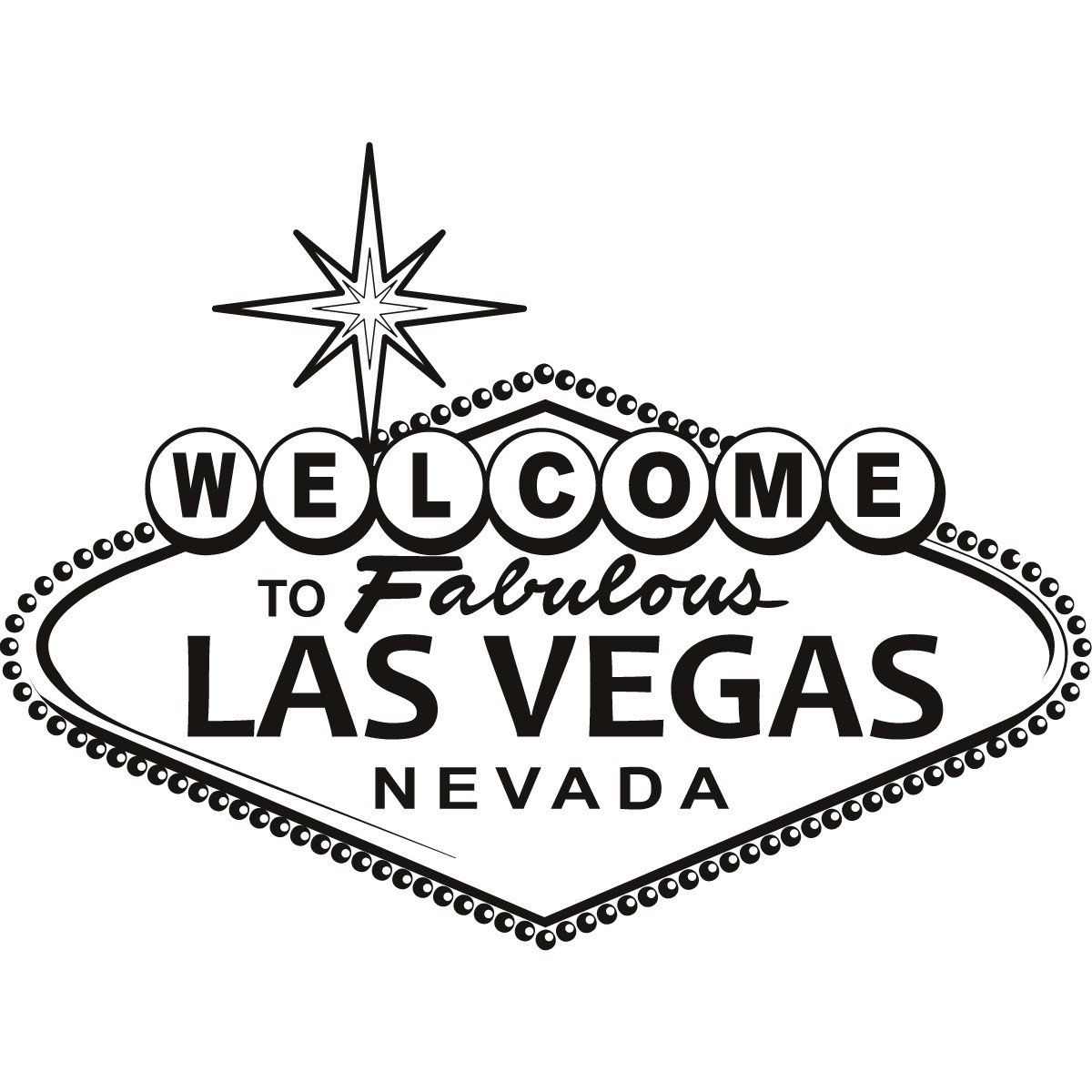 Las vegas sign wall art sticker vinyl stickers h 50cm w 50cm