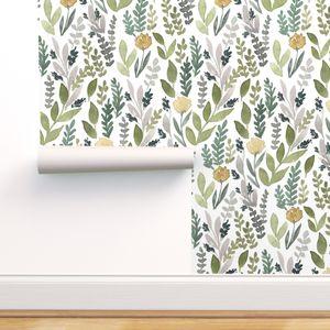 Cart Spoonflower Leaf Wallpaper Spoonflower Wallpaper Peel And Stick Wallpaper