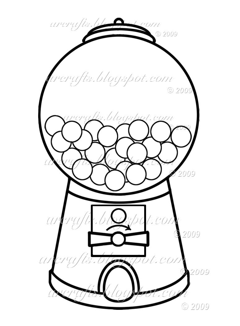 Gumball machine coloring page picture im going to use this to make