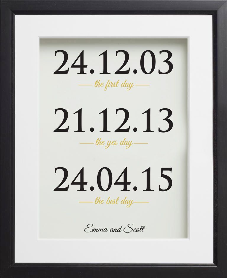 Traditional 1st Wedding Anniversary Gifts: 1st Wedding Anniversary Paper Gift. One Year Personalised