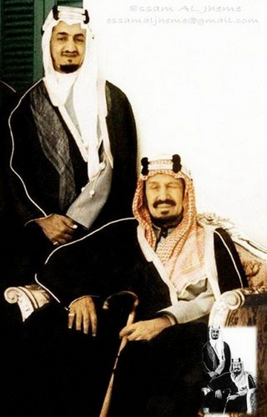 King Abdul Aziz Al Saud And King Faisal Bin Abdul Aziz By Essam Al Jheme Via Flickr Saudiarabia Saudi Arab Saudi Arabia Culture King Faisal Ksa Saudi Arabia