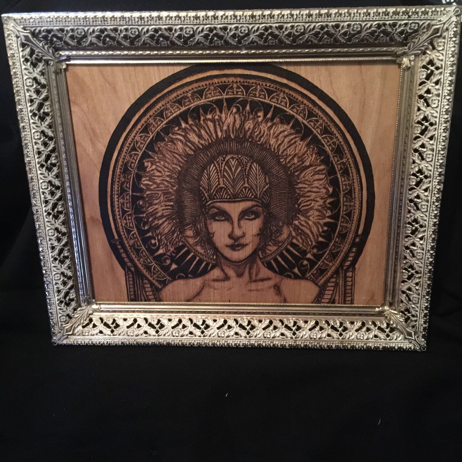 A personal favorite from my Etsy shop https://www.etsy.com/listing/279074234/original-pyrographic-illustration