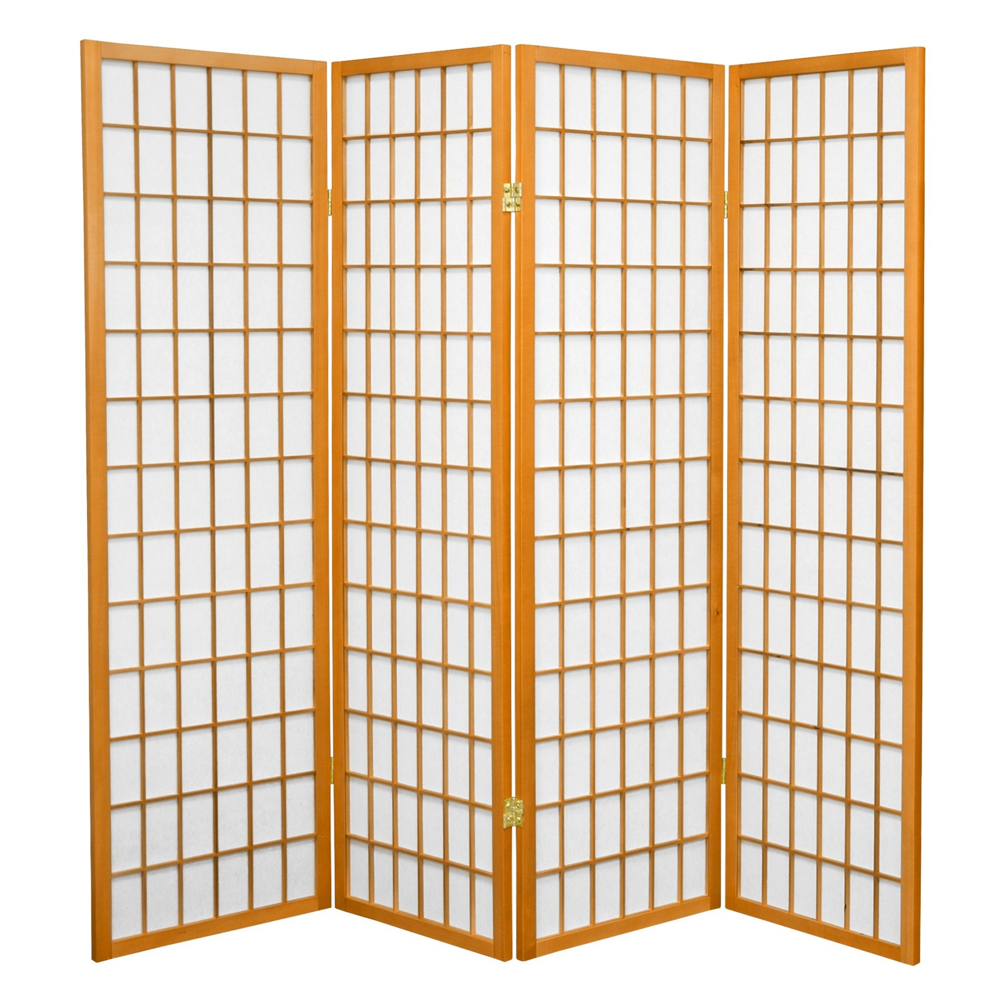 Rustikaler wohnzimmerspiegel  ft tall window pane shoji screen  honey  panels pumpkin