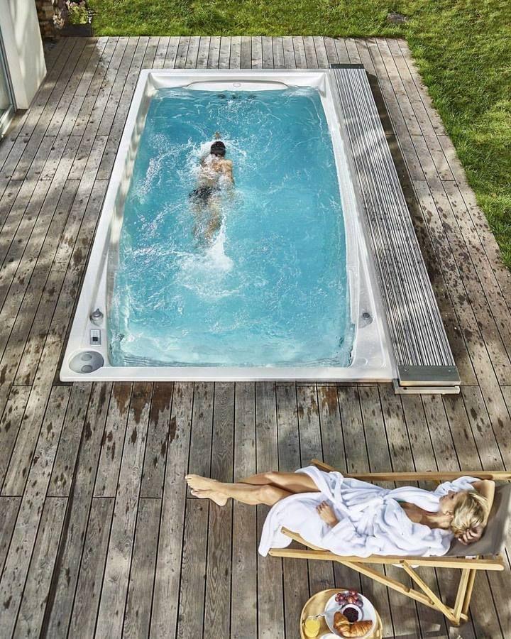 Cómo tener una piscina olímpica en casa (o algo que se le parezca