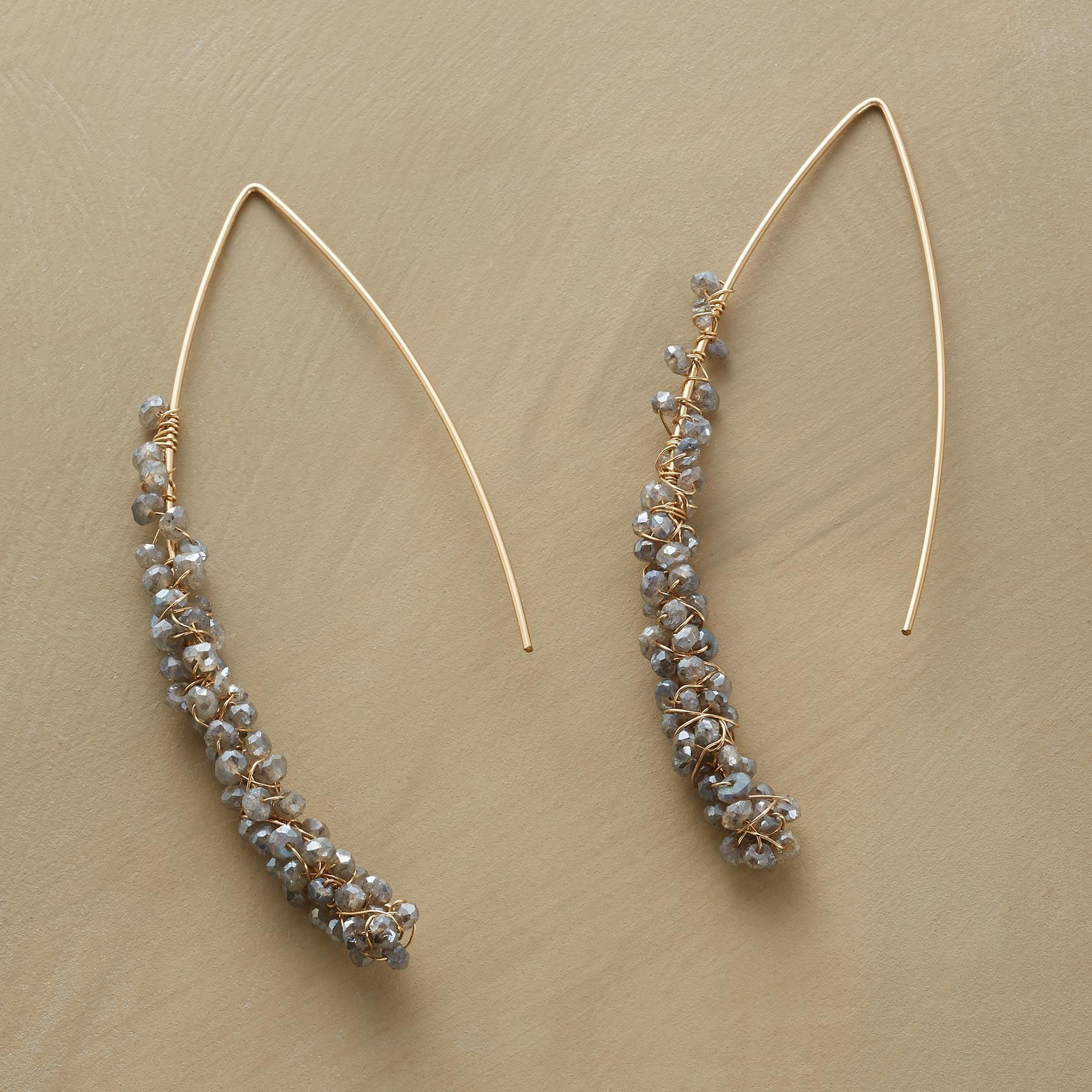 Faceted Citrine and Amazonite 1 of a Kind Elegant Earrings DANCER