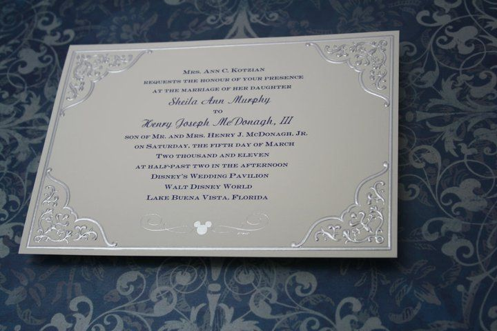 Classy Mickey invitation Disney Wedding Pinterest Mickey
