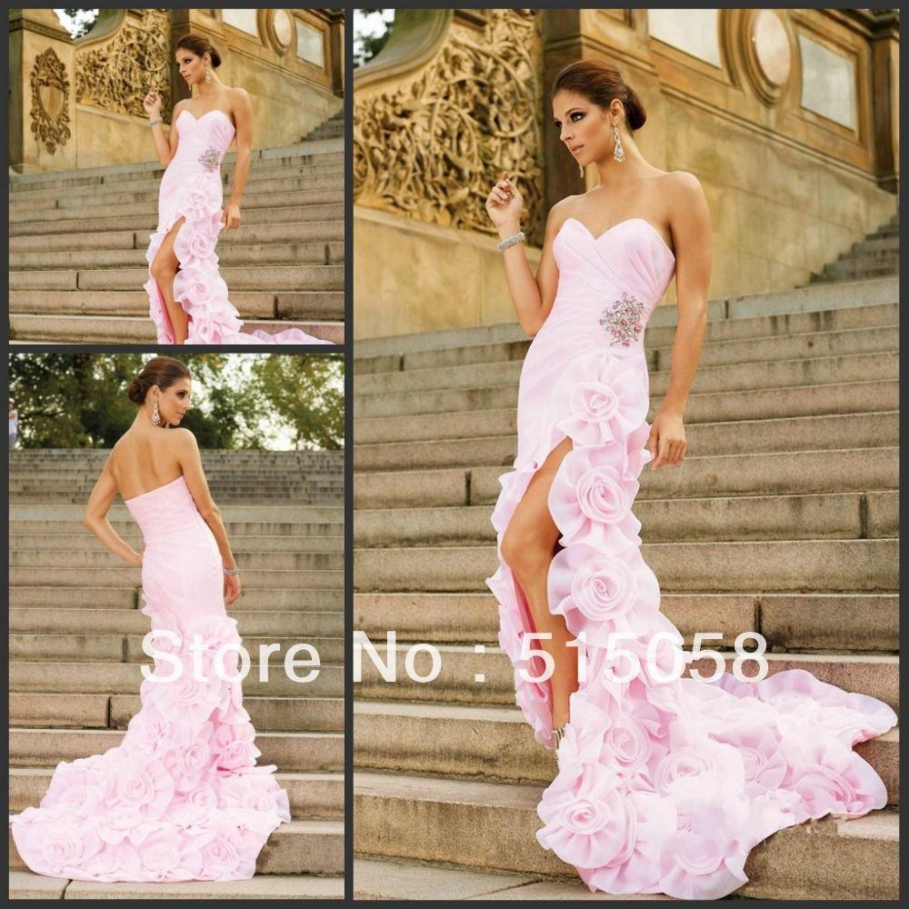 Ombre Dress Mermaid Pink Organza