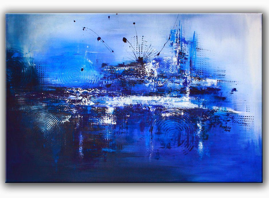 Neues Aus Dem Kunst Atelier Burgstallers Art: SEEBEBEN: Acrylbild Abstrakt,  Original Gemälde