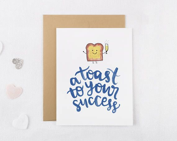 A Toast To Your Success Congratulations Card Funny Congratulations