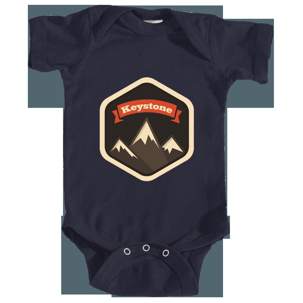 Tree Sunset Badge Colorado Unisex Infant T-Shirt CO