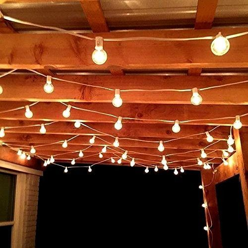 Outdoor String Lights Patio Vintage 100 Foot Garden Bulbs