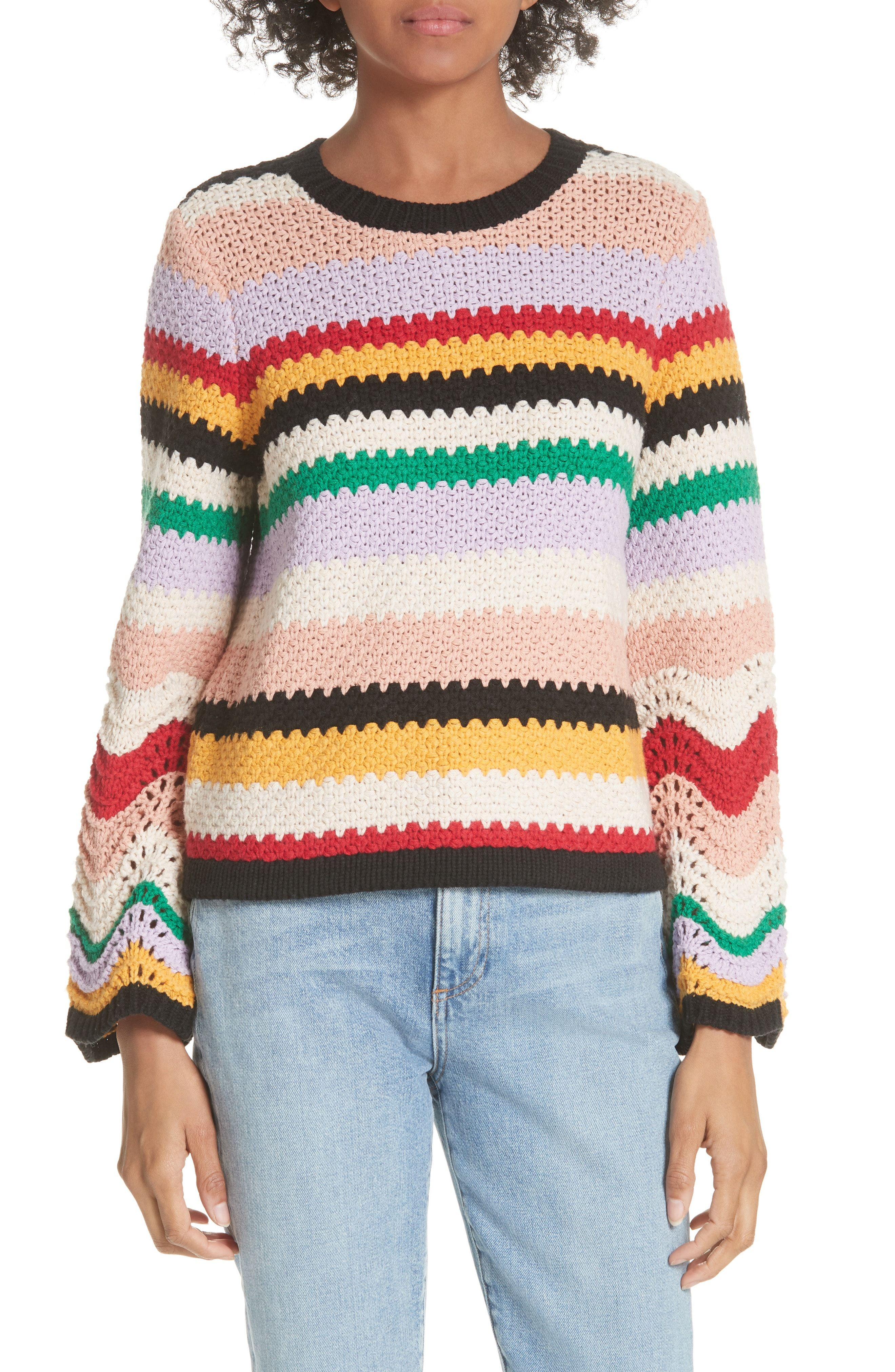 634168a22 How cute is this crocheted looking colorful sweater from Nordstrom ...