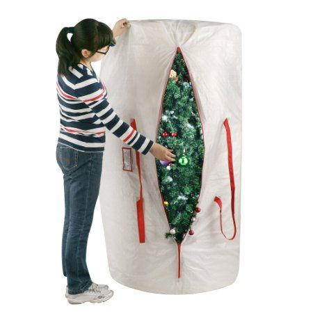 amazoncom elf stor premium white holiday christmas tree storage bag large for 9 - Christmas Tree Bags Amazon