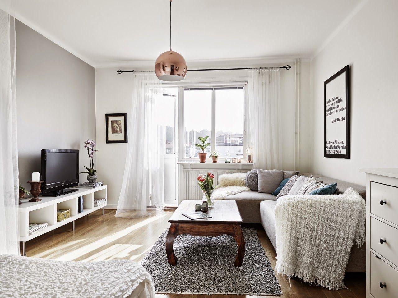 Inspiraci n deco blanco y gris en un apartamento de for Decoracion piso en blanco