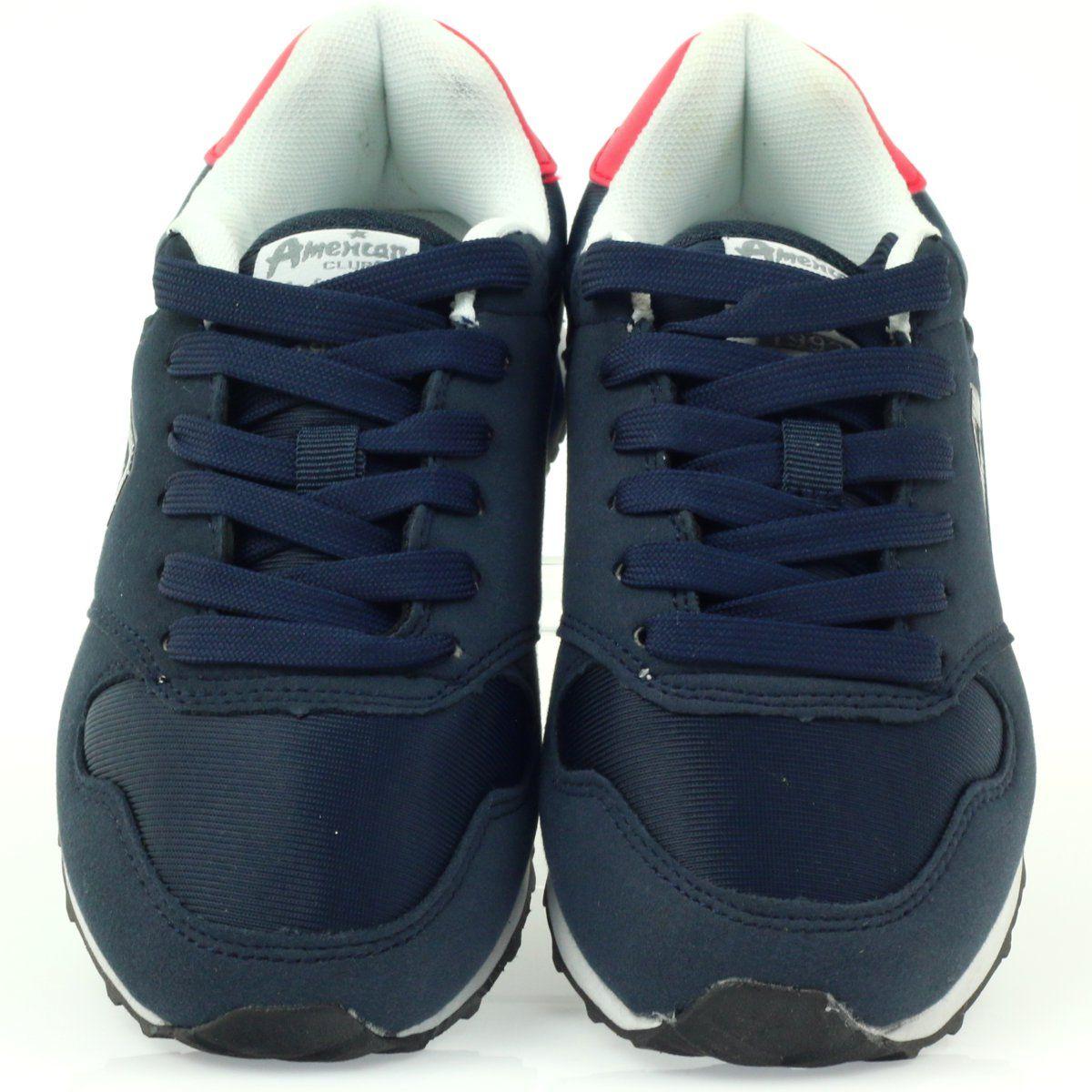 American Club American Adi Sportowe Buty Dzieciece 1757 Czerwone Granatowe Kid Shoes Club Shoes Sports Shoes