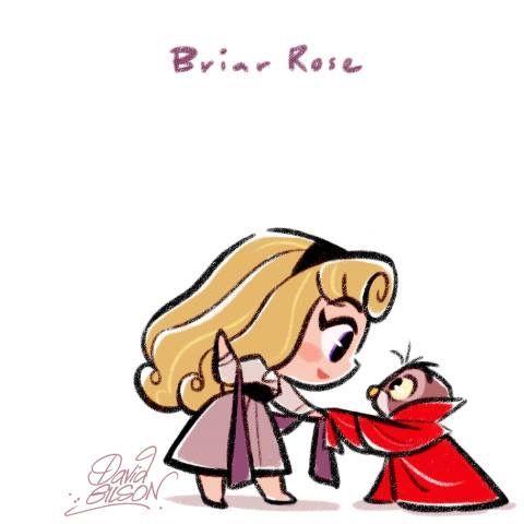 Briar Rose Sleeping Beauty The Art Of David Gilson Kawaii