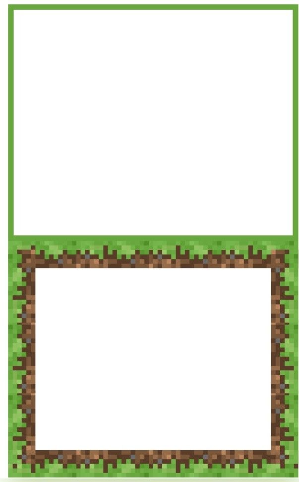 Blank Food Tent template.  I've had a really hard time finding free templates online, but I found this at http://catchmyparty.com/blog/free-minecraft-party-printables-from-printabelle  I was able to use this to make my own in Microsoft Publisher for any items not listed on the above web site.