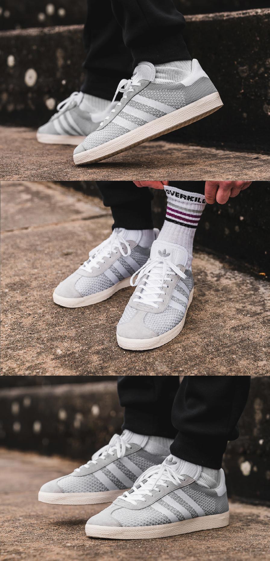 #Adidas #Gazelle #Primeknit #Clear #Onix http://www.