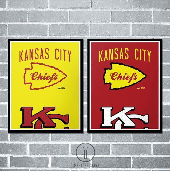 Kansas City Chiefs Graphic Print by DimestoreSaintDesign $15.00+ ...