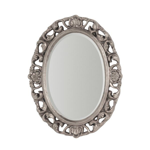 5527c4c0a16a Buy Large Oval Silver Ornate Wall Mirror from Fusion Living ...